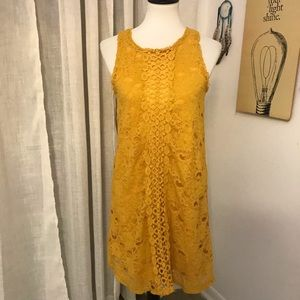 Francesca dress yellow mustered color new